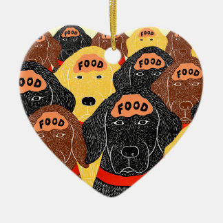 all dogs brains are about the same-Food Christmas Ornament