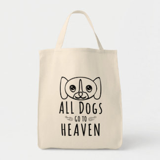 All Dogs Go To Heaven Grocery Tote Bag