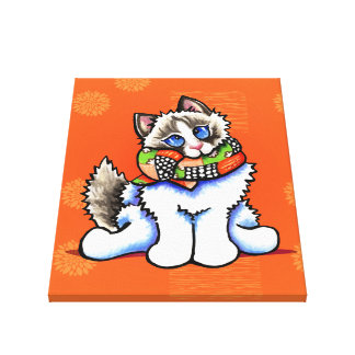 All Dolled Up Ragdoll Cat Off-Leash Art™ Gallery Wrap Canvas