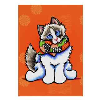 All Dolled Up Ragdoll Cat Off-Leash Art™ Print