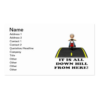 All Down Hill From Here 2 Pack Of Standard Business Cards