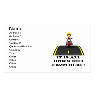 All Down Hill From Here 3 Pack Of Standard Business Cards
