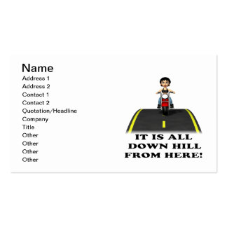 All Down Hill From Here 5 Pack Of Standard Business Cards
