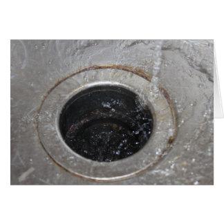 All down the drain card