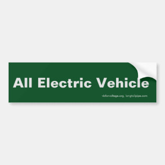 All Electric Vehicle - bumper sticker