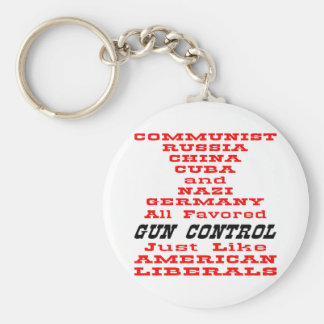 All Favored Gun Control Just Like American Liberal Basic Round Button Key Ring