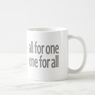 All for One, Un Pour Tous Coffee Mug