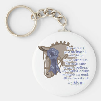 All For The Ribbon Basic Round Button Key Ring