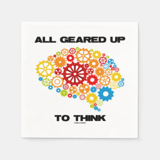 All Geared Up To Think Brain Gears Psyche Engineer Paper Serviettes