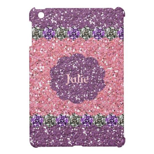 All Girl Pink Purple Glitter Gem Look Personalised