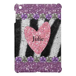 All Girl Pink Purple Zebra Personalized Cover For The iPad Mini