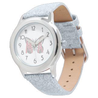 All Glitter Butterfly Add Initials Watch
