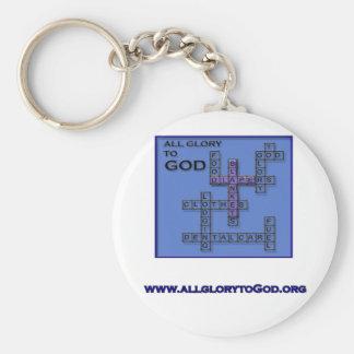All Glory To God round keychain