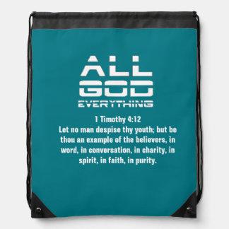 All God Everything Bag Drawstring Backpacks