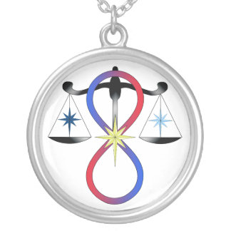 All Gods Universal Power Color - Religious Symbol Silver Plated Necklace