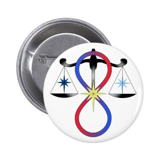 All Gods Universal Power Colour - Religious Symbol 6 Cm Round Badge