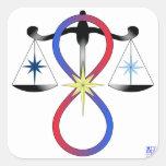 All Gods Universal Power Colour - Religious Symbol Square Sticker