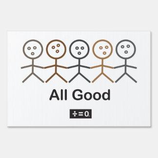 "All Good 12"" x 18"" Yard Sign"