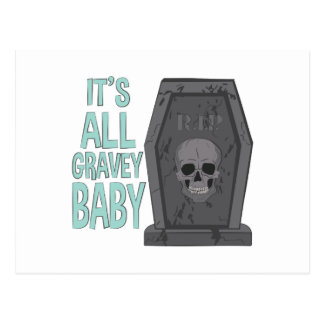 All Gravey Baby Postcard