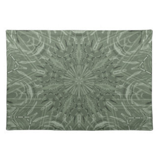 All Green Funky Sun Pattern Place Mats
