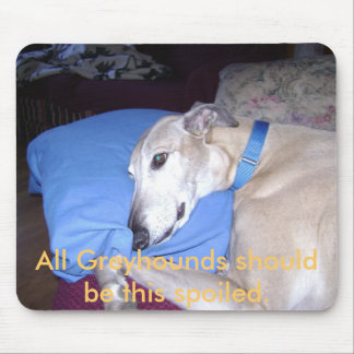 All Greyhounds should be this spoiled. Mouse Mat
