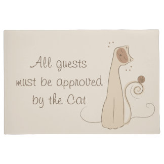 All Guests Must Be Approved By Cat Doormat