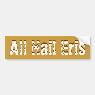 All Hail Eris Bumper Sticker Car Bumper Sticker