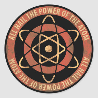 All Hail the Power of the Atom 1950s Logo Round Sticker