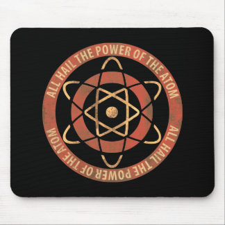All Hail the Power of the Atom Retro Logo Mouse Pad