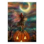All Hallows' Eve Halloween Fairy Fantasy Art Greeting Card