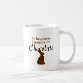 All happiness depends on chocolate mug