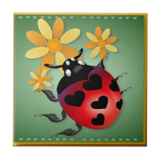 All Heart Ladybug Tiles 'n' Trivets