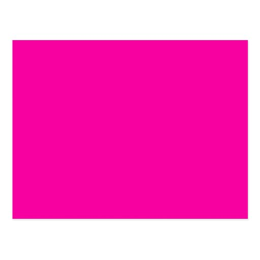 All Hot Pink Nothing But Color Pink Post Card