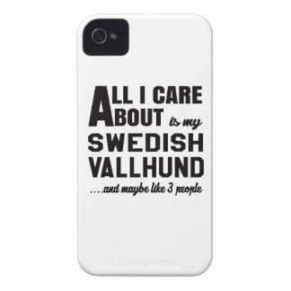 All i care about is my Swedish Vallhund. iPhone 4 Case-Mate Case
