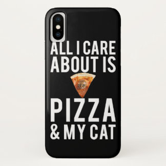 All i care about is pizza & my cat iPhone x case