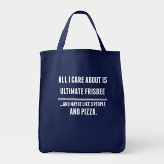 All I Care About Is Ultimate Frisbee Sports Grocery Tote Bag