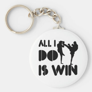 All I Do Is Win At Kickboxing Basic Round Button Key Ring