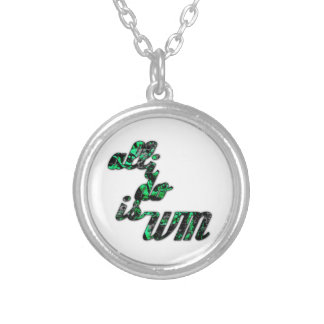 All I Do is Win Personalized Necklace