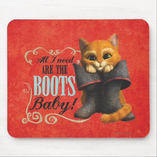All I Need Are The Boots (color) Mousepad