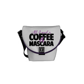 All I need is Coffee & Mascara Commuter Bags