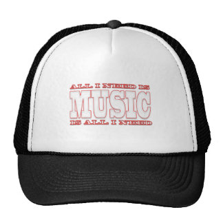ALL I NEED IS -MUSIC- IS ALL I NEED TRUCKER HAT