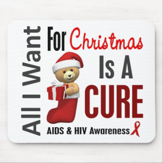 All I Want For Christmas AIDS Mouse Pad