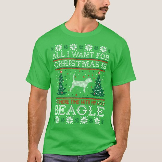 All I Want For Christmas Beagle Ugly Sweater