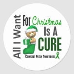 All I Want For Christmas Cerebral Palsy Round Stickers