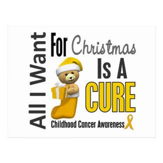 All I Want For Christmas Childhood Cancer Postcard
