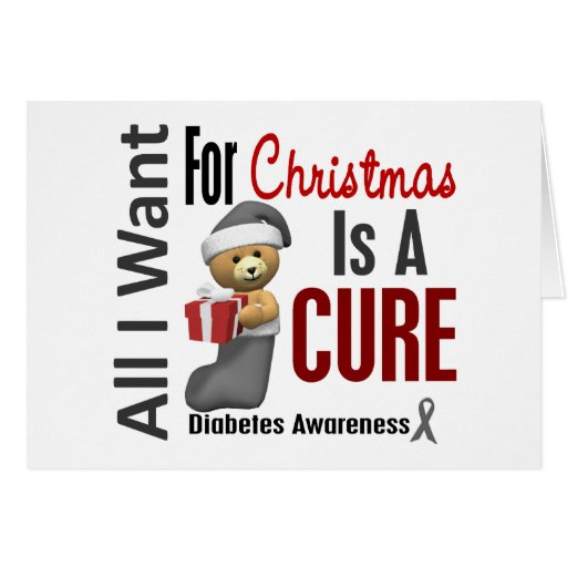 All I Want For Christmas Diabetes Greeting Cards