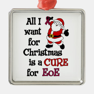 All I Want For Christmas...EoE Silver-Colored Square Decoration