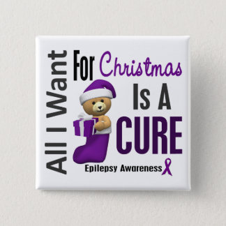All I Want For Christmas Epilepsy 15 Cm Square Badge