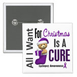 All I Want For Christmas Epilepsy Buttons