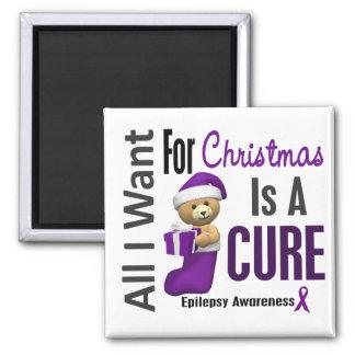 All I Want For Christmas Epilepsy Fridge Magnets